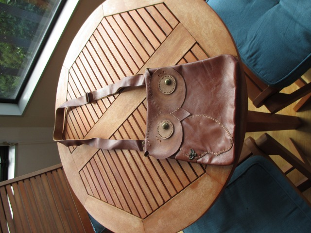 Fashion Women Bags & Wallets : Handmade, brown leather bag for women, owl leather bag