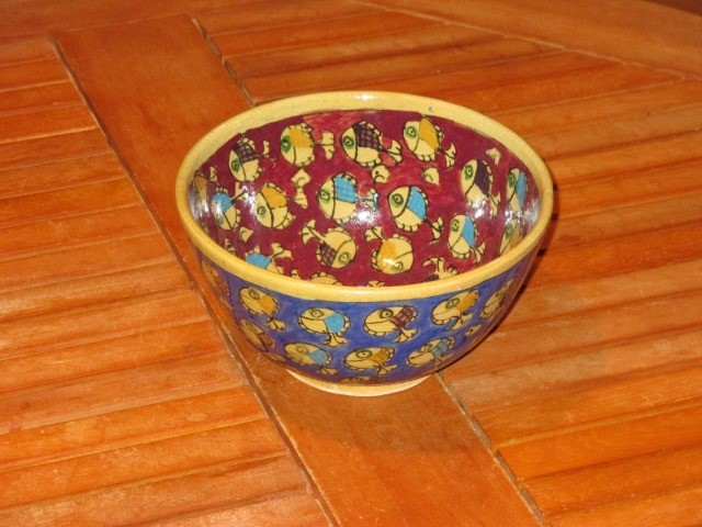 Home & Garden Home & Living Kitchen : Fish pattern bowl, beautiful Persian pottery, hand-made and hand-painted