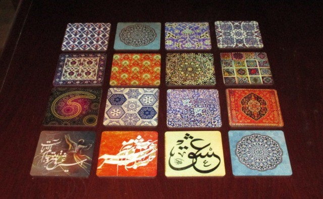 Home & Garden Home & Living Kitchen : Beautiful Coasters, Zodiac Coasters, Persian pattern Coasters